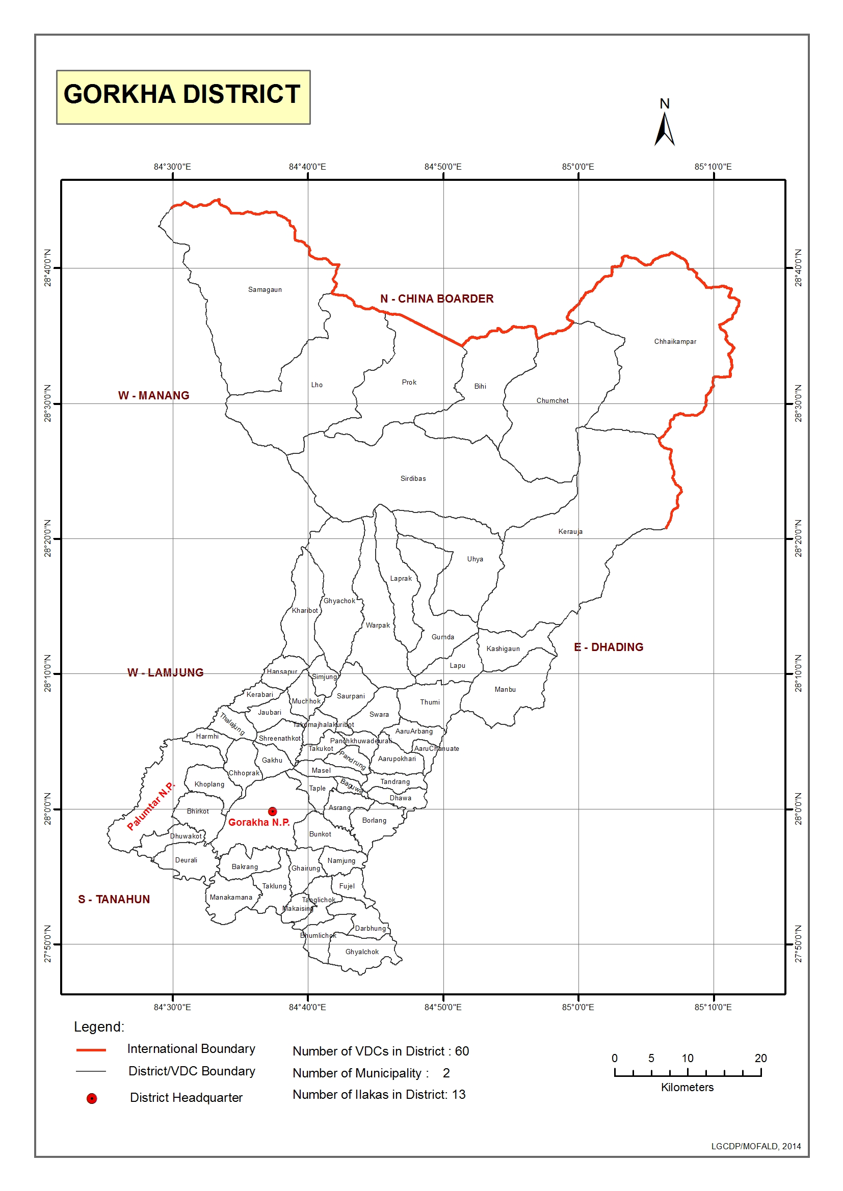 Gis District Map Local Governance And Community