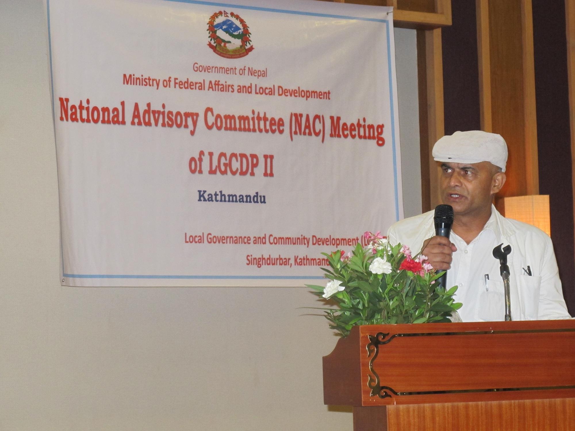 5th National Advisory Committee (NAC) meeting of LGCDP II ...