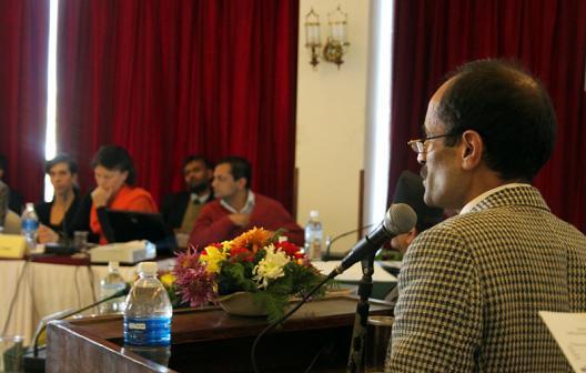 Joint Secretary Reshmi Raj Pandey during NAC meeting at Hotel Himalaya