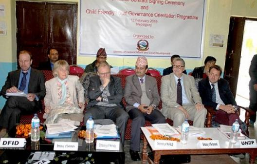 Contract signing ceremony in nepaljung